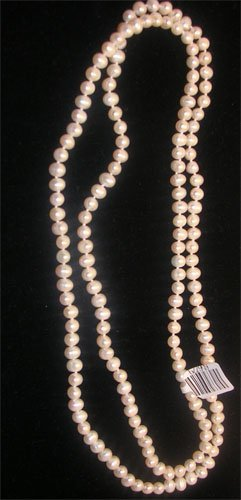 3114: 34 Inch 5mm Pearl Necklace