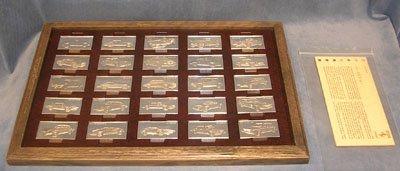 3196: 25 Pc. Sterling Silver Centennial Car Ingot Colle