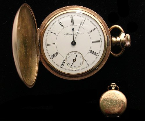 4112: GFilled Hampden Hunter Case Pocket Watch