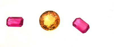4120: 1.65+Ct. Yellow Sapphire Round Ruby E-Cut Loose S