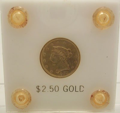 4311: 1853 $2 1/2 Gold Liberty Head Coin