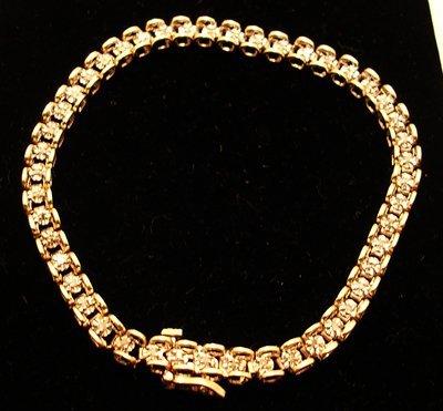 5112: 10ky .25ctw Diamond Round Tennis Bracelet