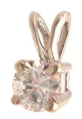 5114A: 14KW SI-1/H .35ct Round Diamond Solitare Pendant
