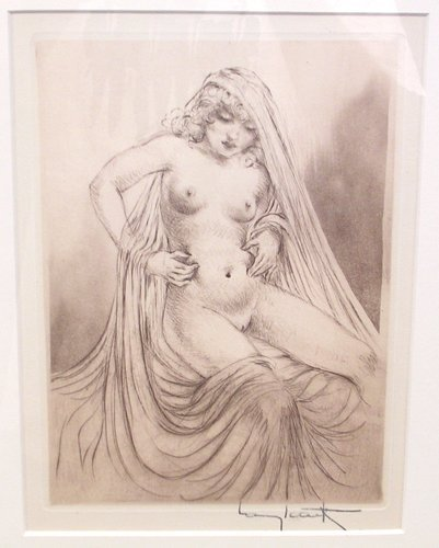 5148: Signed Sepia Etching by Louis Icart