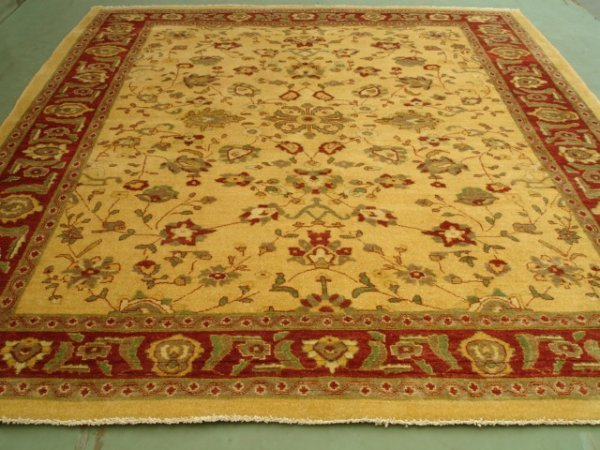 5149I: Rare Vegetable Afghan Chobi Large Rug 11x9