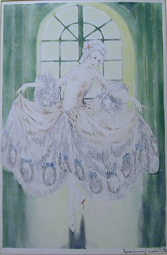 5374H: Signed Louis Icart Etching Minuet 1928