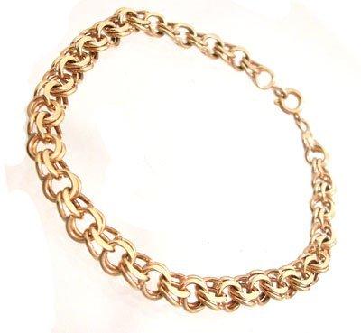 5310: 9ky Double Loop Link Bracelet 8.8g
