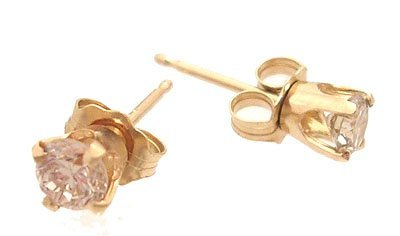 5313: 14ky .44ctw Diamond Stud Earrings