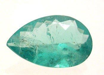 5337: 3.70ct Columbian Emerald Pear Loose 14.5x9.5mm St