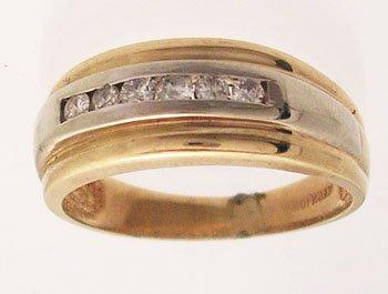 1115: 14k .25ctw Diamond Round Channel Set 2Tone Ring