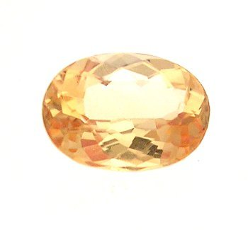 1203: 1.25+ct. Imperial Topaz Oval Loose 8x6mm Stone