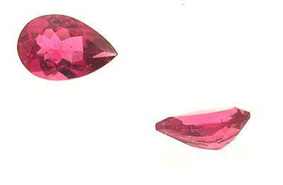 1318: 2+Ct.TRUE Rubelite Tourmaline Pear Loose 10x7mm