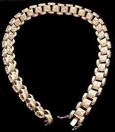 1397: 18kw 8.16ctw Diamond Round Link NecklAPPR $13124.