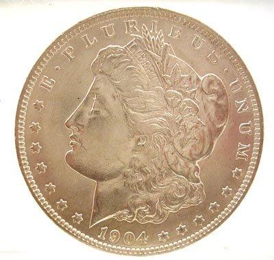 2107: 1904-O Morgan Silver Dollar Coin PCGS/MS64