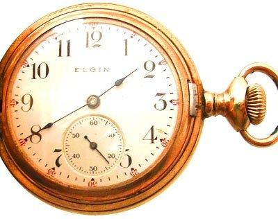 2108A: GFilled 7J Elgin Ladies 0S Hunter Pocket Watch 1