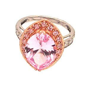 2126: 14kw 4.20ctw Pink Topaz Marquise Rose Gold Ring