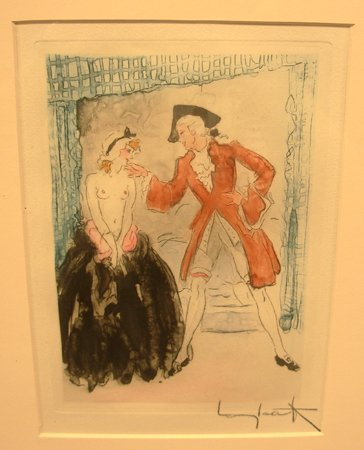 2174E: Signed Louis Icart Color Etching Cutie 1946