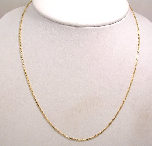 2103: 14KY Mirror Box Link Chain 2 gram 20inch