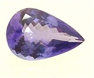 .78+Ct. Tanzanite Pear Cut Loose 8x5mm Stone