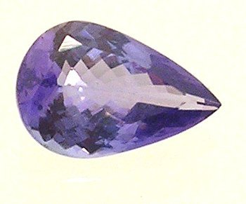 2121: .78+Ct. Tanzanite Pear Cut Loose 8x5mm Stone