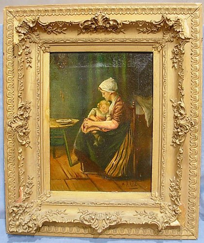 5: Early 19th Century Oil on Canvas signed M. Artz