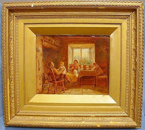 7: Oil on Panel Attributed to David L Artz