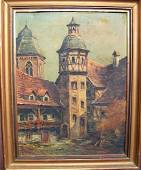 100L: Late 19th Century Oil on Canvas by Ernst Krupp