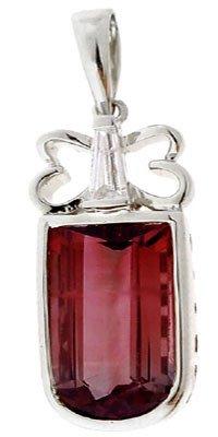 3023: 14KW 7.05ct Pink Tourmaline diamond pendant