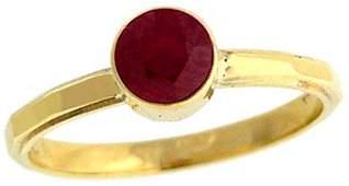 1009: 14YG .85ct Burmese Ruby bezel estate ring