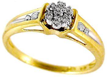 .15ctw 11 Round White Diamond Ring