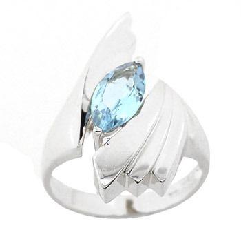 14KWG 1.27ct Blue Topaz ring