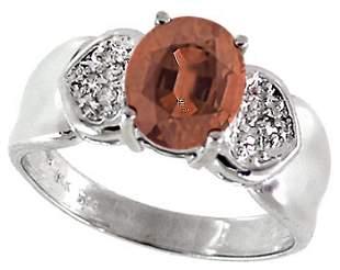 WG 2ct Pink Tourmaline diamond pavé ring