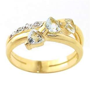 .60c aquamarine 3 trillion diamond band ring