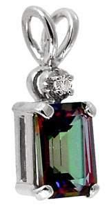 1.18ct Mystic Topaz/Diamond Necklace Pend