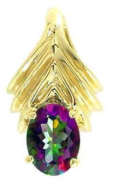 1.50ct Mystic Topaz oval arrow pendant