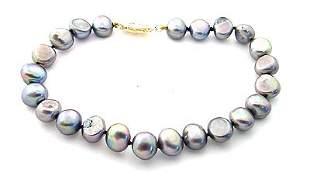 8/8.5mm grey pearl nugget 8inch bracelet