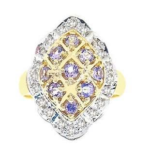 .65ct Tanzanite .25ct diamond marquise ring
