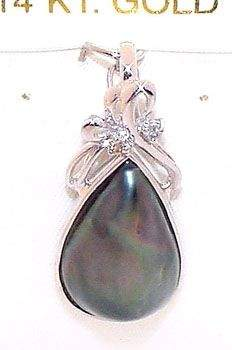 14wgTahitian mabé pearl diam enhancer pendant