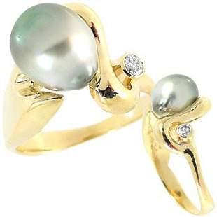 light Tahitian pearl dia bezel freeform ring