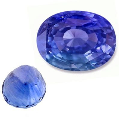 55: 1.90ct loose oval Blue Saphire