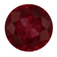 13D: .90ct Burmese Ruby Round loose
