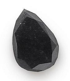 2108: 1.01ct Black DIAMOND pear loose gem