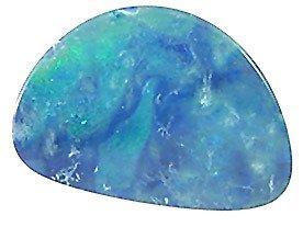 2127: 4.93ct Firey 12x17mm Boulder Opal Doublet