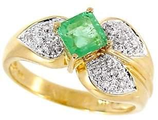 .70ct Columbian Emerald princess .07dia ring