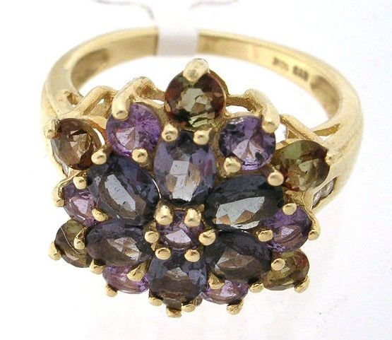 4164: 10KY 3cttw Color Changing Garnet and andulusite r