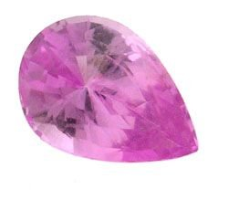 4166: 1.14ct Pink Sapphire Pearl loose