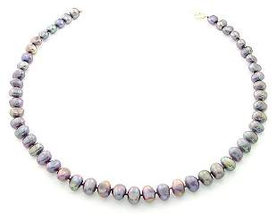 8/8.5mm grey pearl nugget 20inch necklace