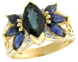 659204 14KY 3ct Sapphire marquise band ring