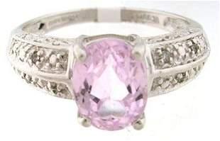 656967 14KW 1ct Kunzite oval Diamond ring