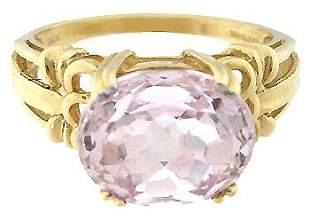 653254 14KY 3.50ct Kunzite oval sideset ring